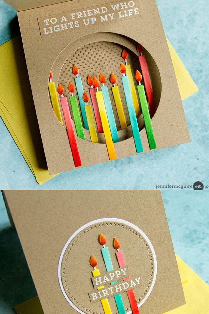 Inside Tunnel Cards Jennifer Mcguire Ink Handmade Birthday Cards Birthday Cards Diy Birthday Card Craft