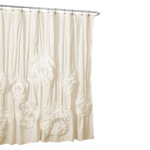 Lush Decor Serena Flower Texture Shower Curtain Target 11600