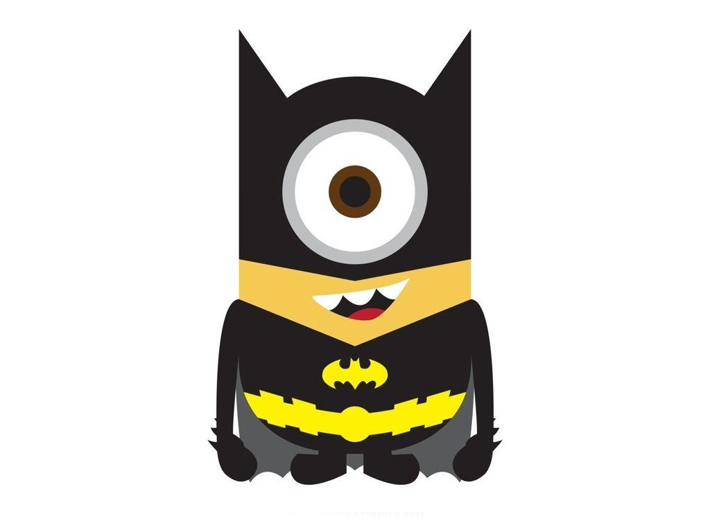 Minimalistic Batman Minion Wallpaper