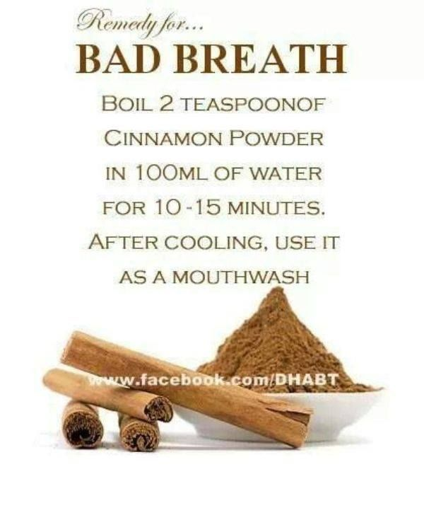 Great natural way to remedy bad breath  Don't reach for