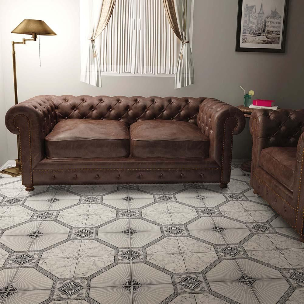 Merola Tile Estelar Nero 12-1/2 in. x 12-1/2 in. Ceramic Floor and Wall Tile (11.29 sq. ft. / case)-FCG12ESN - The Home Depot