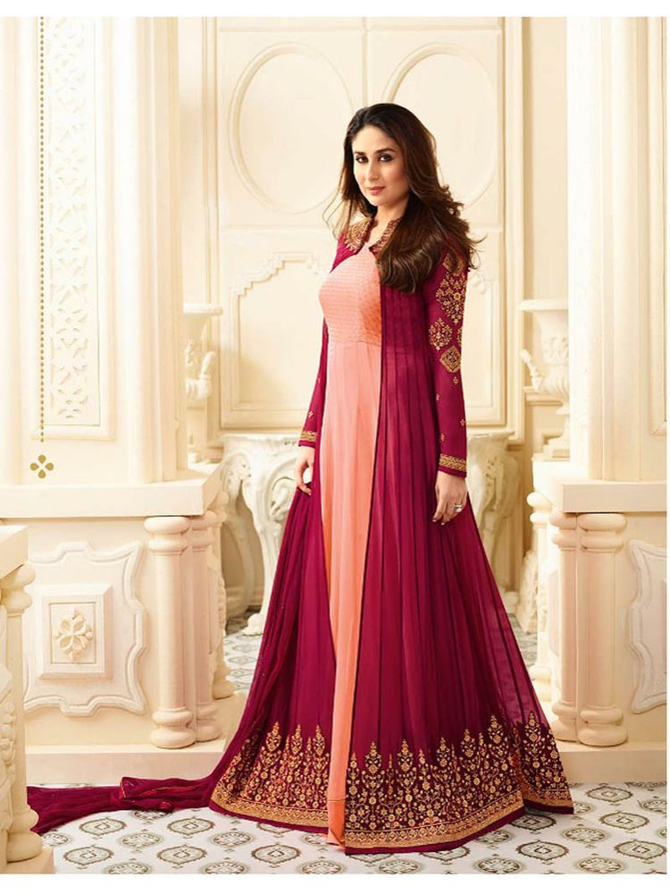 016d2af53 Indian ethnic Bollywood Party wear embroidered Unstitched Anarkali Salwar  Suit #Indian #SalwarKameez