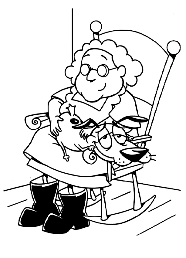 27++ Courage the cowardly dog coloring page free download