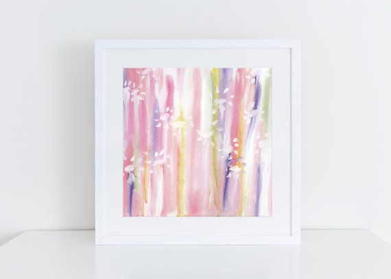 modern abstract art print watercolor art painting by TwoEasels