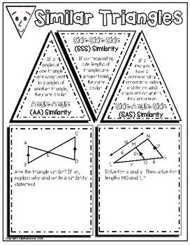 Geometry: Similar Triangles Doodle Graphic Organizer