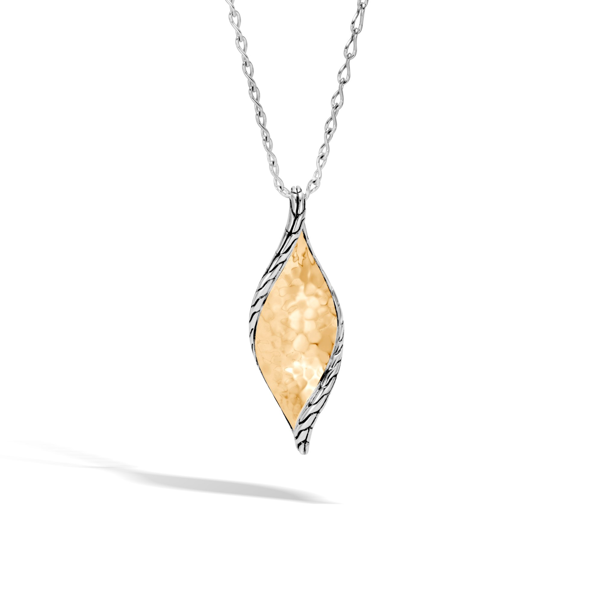 John Hardy Wave Hammered Pendant Necklace With Diamonds cQ1sk