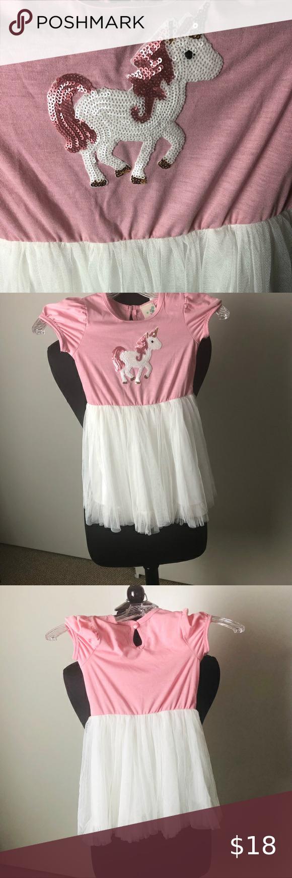 Lily Bleu Unicorn Pony Party Dress Girls Sz 4t Lily Bleu Unicorn Pony Party Dress Girls Sz 4t It Is Pink With White Girls Party Dress Party Dress Girls Dresses [ 1740 x 580 Pixel ]
