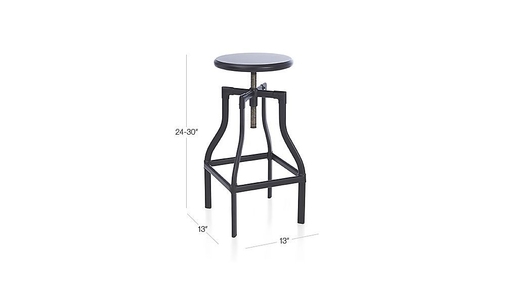 Groovy Turner Black Adjustable Backless Bar Stools And Linen Pabps2019 Chair Design Images Pabps2019Com