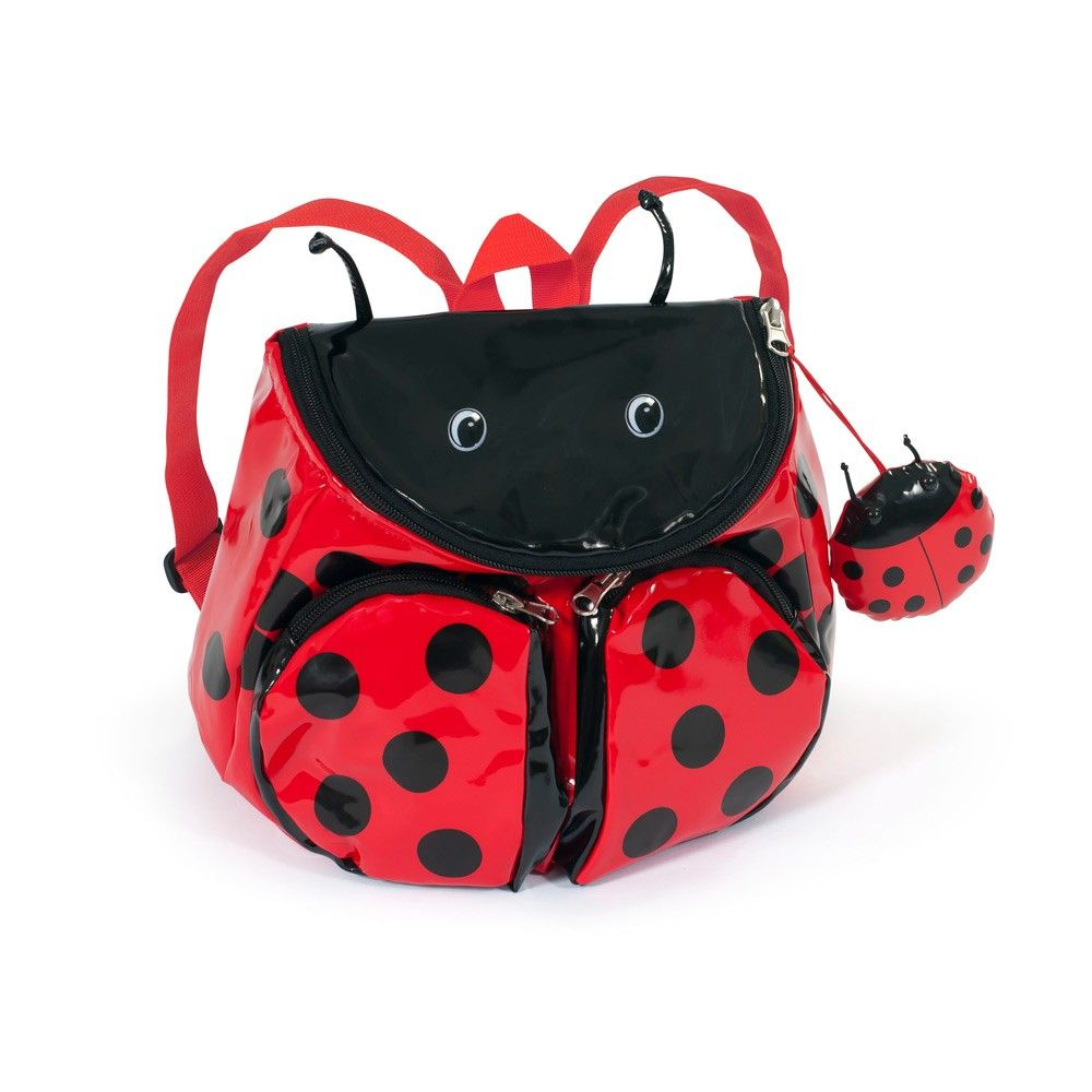 A girl with a Kidorable Ladybug Backpack is a curious explorer who shows up  in the most unexpected places. 959e8be4e6b71