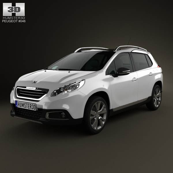 Peugeot 2008 2013 3d Model From Humster3d.com. Price: $75