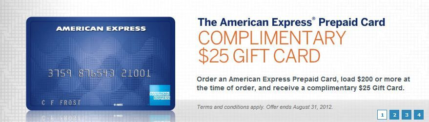 complimentary 25 gift card from american express when you order an amex prepaid card and load - Order Prepaid Card