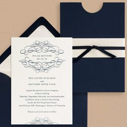 Invitation enclosures halfmoon invitation with sash blue and fuschia pinterest stopboris Images