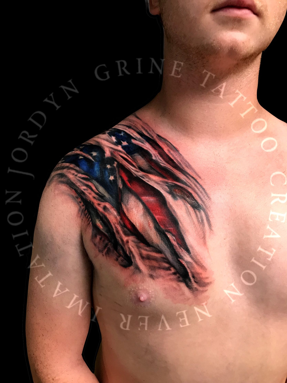 Evolved Tattoo : evolved, tattoo, Awesome, American, Tattoo, JORDYN, GRINE, TATTOO, Evolved, Www.jordyngrinetattoo.com, Www.…, Tattoo,, Tattoos