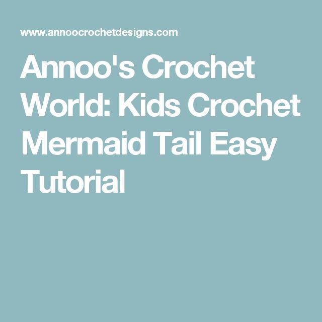 Annoo\'s Crochet World: Kids Crochet Mermaid Tail Easy Tutorial ...