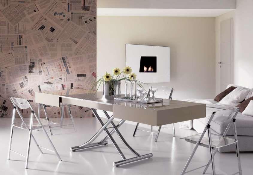 Tavolo Salvaspazio ~ Trasformabili salvaspazio tavolo moderno trasformabile