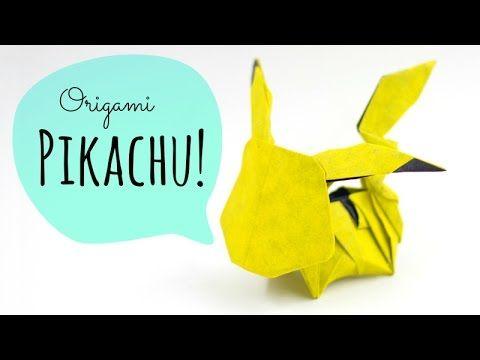 How To Make An Origami Pikachu Tadashi Mori Youtube
