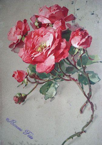 roses anciennes en france galerie d 39 images de roses anciennes peintes par catharina klein. Black Bedroom Furniture Sets. Home Design Ideas
