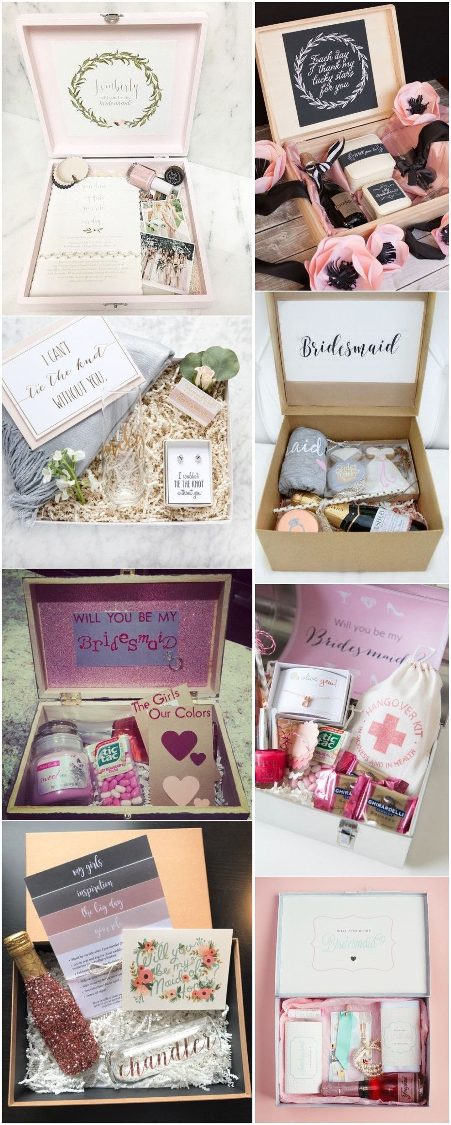Homemade wedding decoration ideas  Will You Be My Bridesmaid