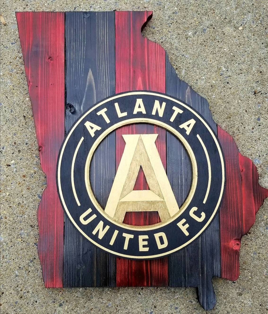 Atlanta United Wooden Sign Etsy Wooden Signs Personalized Wooden Signs The Unit