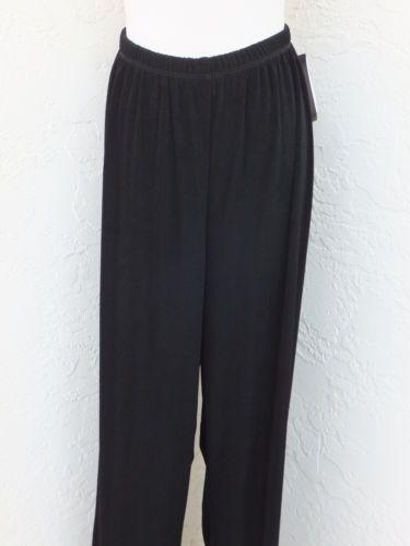 3cea6dbbea482e Maggie-Barnes-plus-size-2X-22-24-black-slinky-elastic-waist-travel-pants-NEW