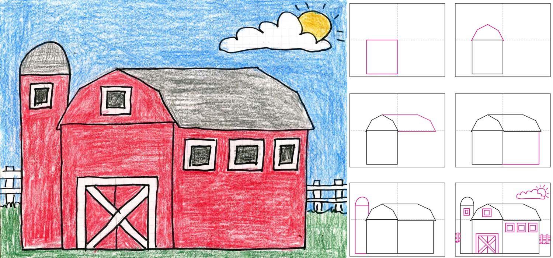Barn Composite Post Jpg 1500 701 Homeschool Art Kids Art Projects Barn Art