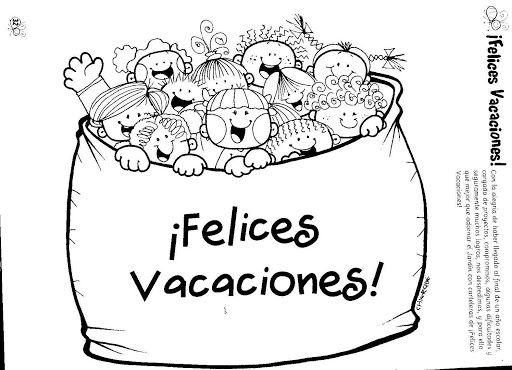 vacacionescolo.png1 | Dessin | Pinterest | Felices vacaciones ...