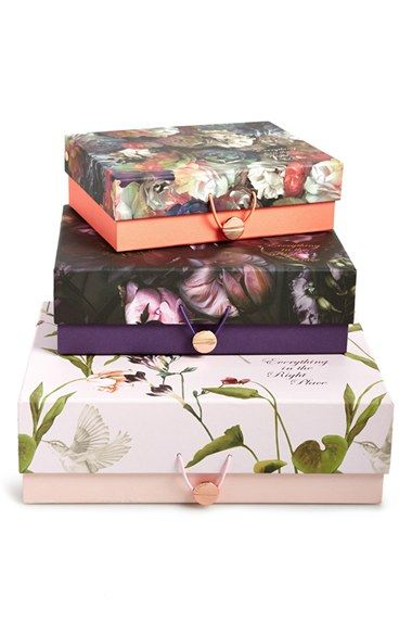 Decorative Stackable Boxes Wild And Wolf Ted Baker London Floral Print Nesting Storage Boxes