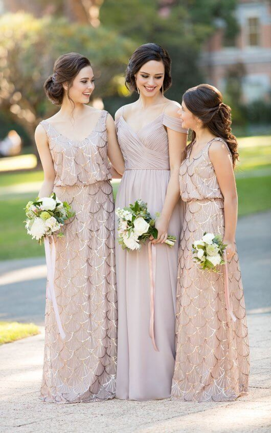 b9c882b1 Flirty V-Neck Sequin Bridesmaid Dress in 2019   Wedding ...