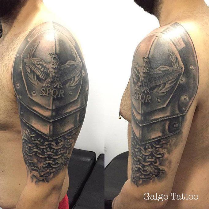 When Did The Spqr Tattoos Originate: Armor Arm, Shoulder, Tattoo