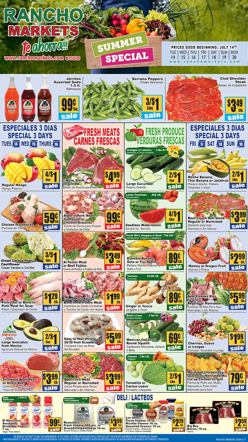 Rancho Market Weekly Ad June 14th July 20th, 2020 in
