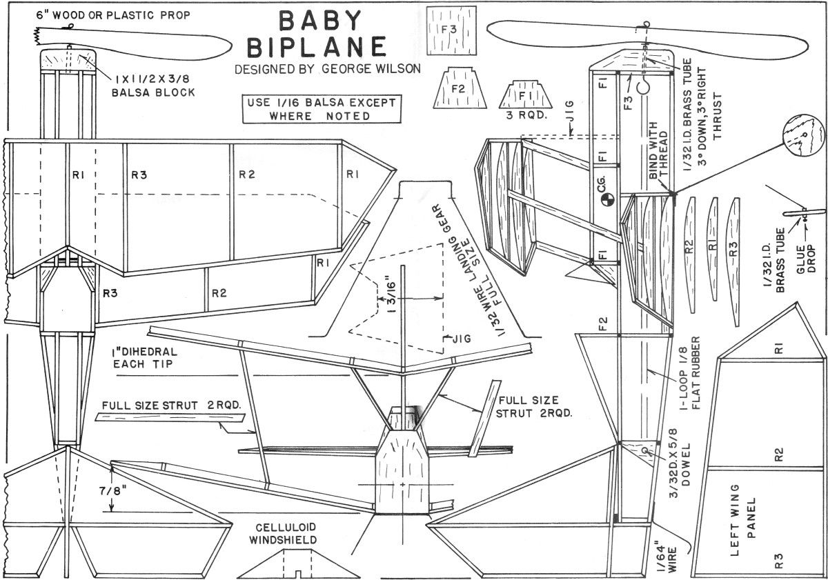 For The Tenderfoot Baby Biplane Article And Plans Oct