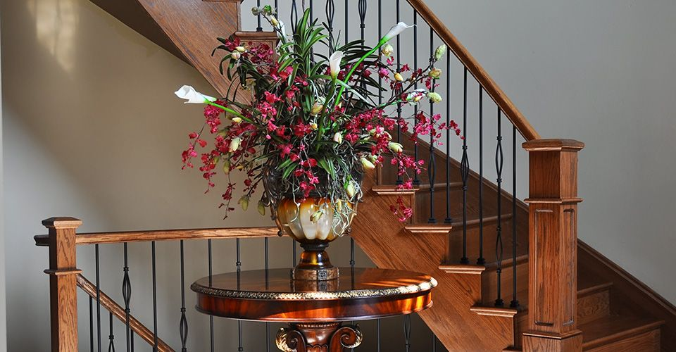 Best Oak Stair Recap With Colonial Handrail Valencia Metal Spindles And Square Posts Stairs 400 x 300