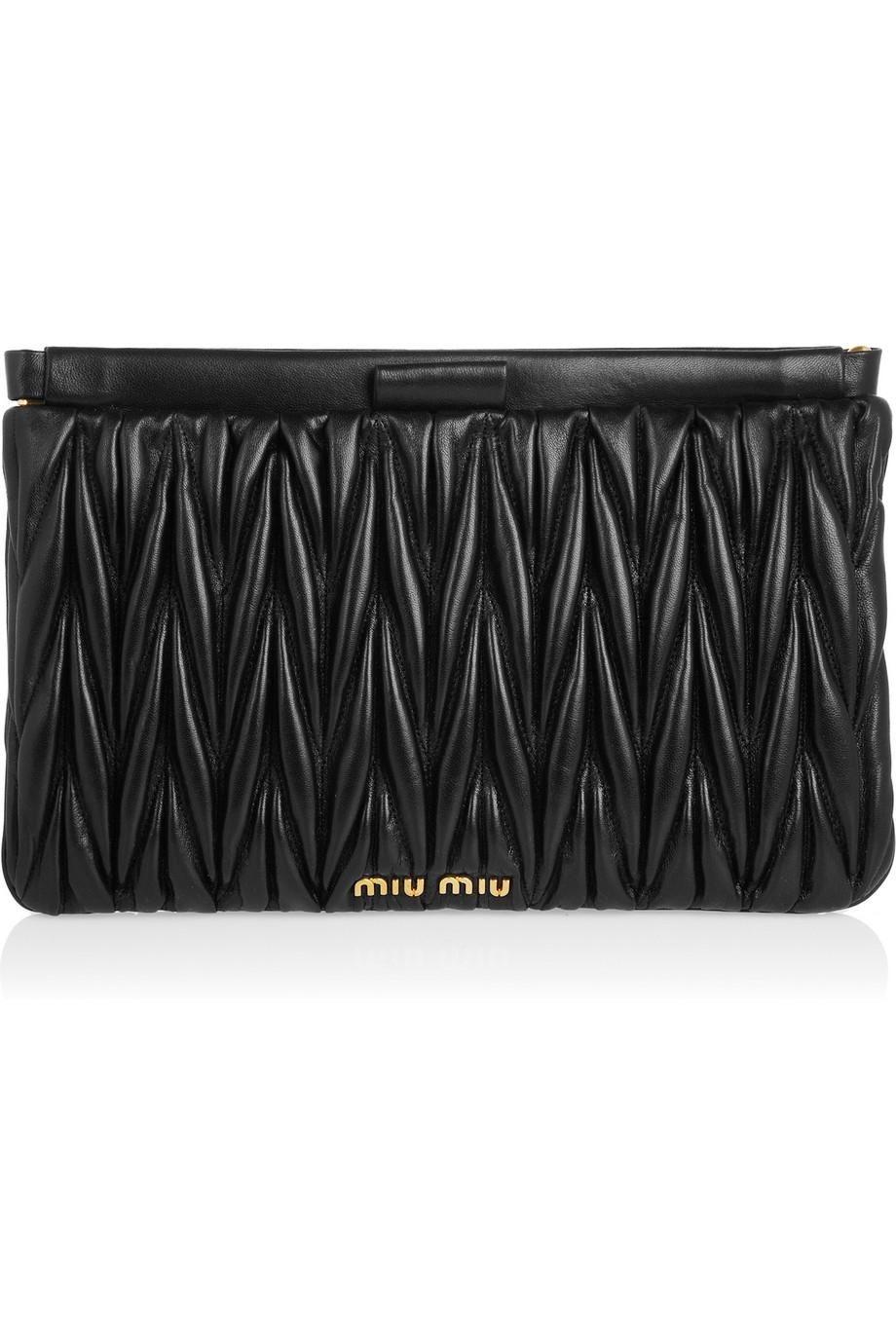 69ee28f6db99 Miu Miu Matelassé leather clutch