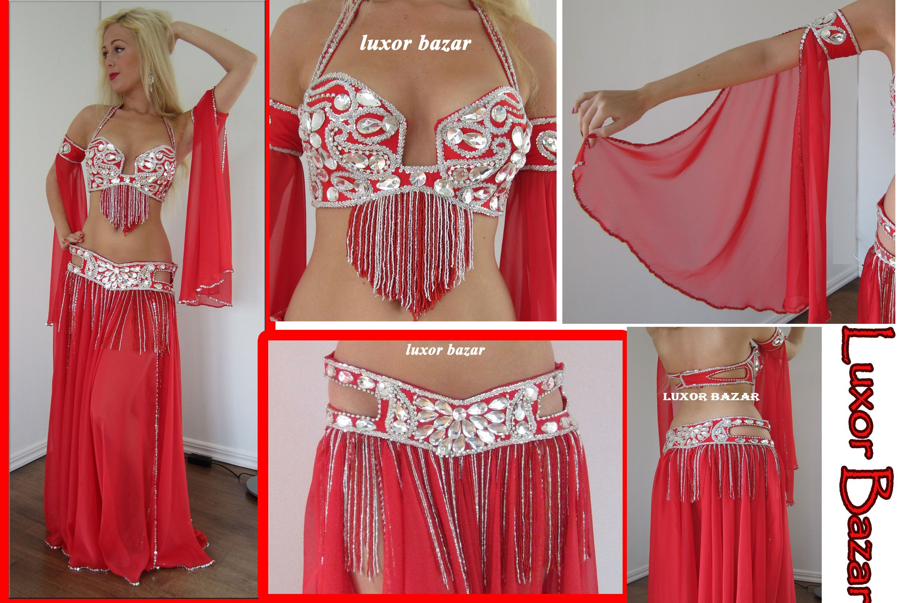 Egyptian professional belly dance costume made any color