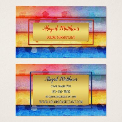 Modern artistic color consultant business card artists unique modern artistic color consultant business card artists unique special customize presents artists pinterest consultant business reheart Gallery