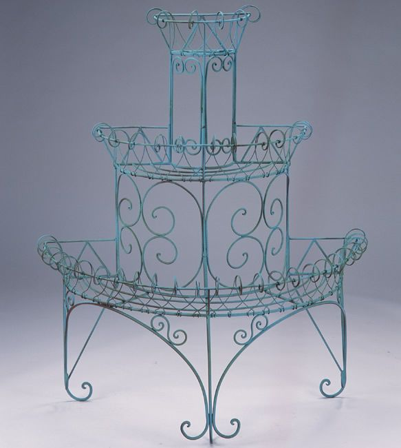 3-Tiered Wire Plant Stand, Iron
