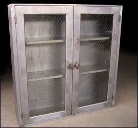 Metal Cabinet With En Wire Gl
