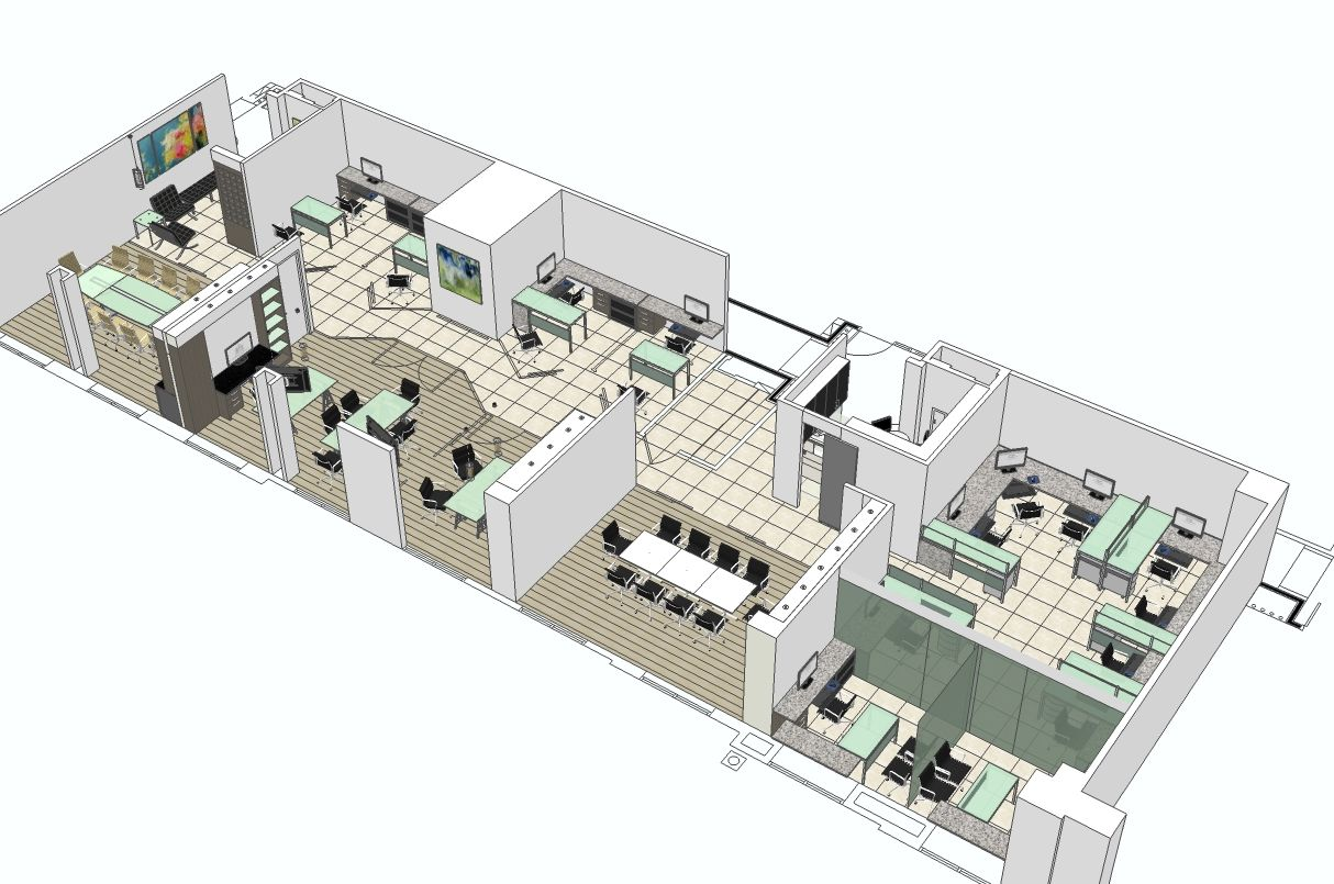 Office layout | www.sketchuporlando.com | Pinterest ...