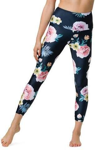 c5acbea7d2e73 Onzie High-Rise Basic Midi Floral Yoga Leggings in 2019   Products ...