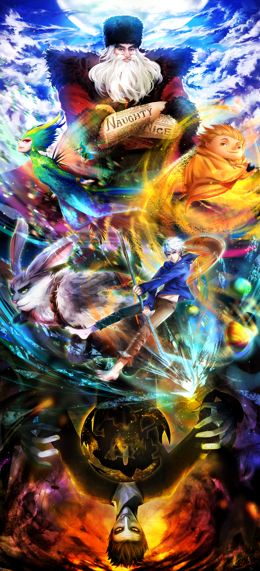 Rise of the Guardians - Fan Art - Colorful Theme - luluseason on dA