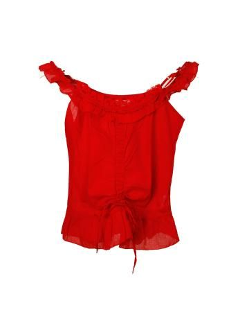 dc15511b09 Top Rojo Volantes de Terranova
