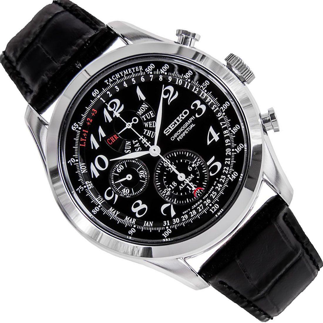 Seiko Chronograph Tachymeter Mens Watch SPC133P1 SPC133