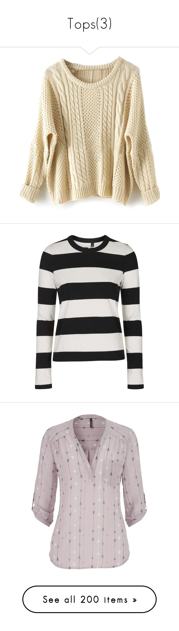 """""""Tops(3)"""" by grace-food-lover1 ❤ liked on Polyvore featuring tops, sweaters, shirts, long sleeves, apricot, long sleeve pullover, long sleeve pullover sweater, batwing sweater, shirt sweater and batwing sleeve sweater"""