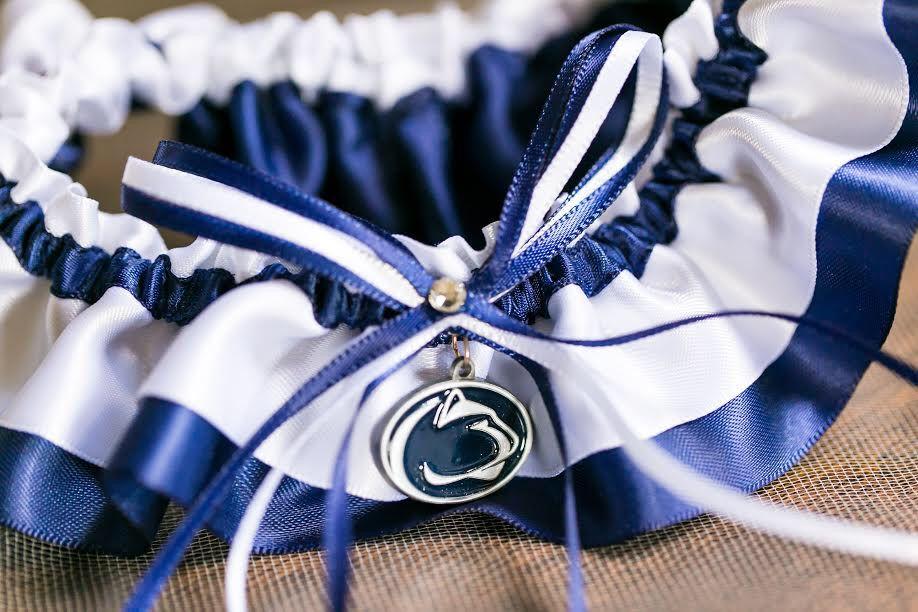 Penn State University Nittany Lions Wedding Garter Set