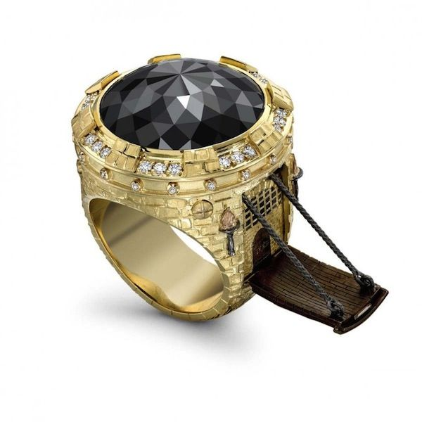 Brilliant Rings Inspired By Popular Novels With Whimsical Secret Compartments - By Theo Fennell. DesignTAXI.com
