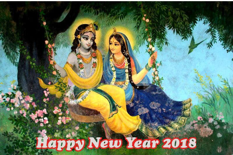 Happy New Year Krishna Image 14