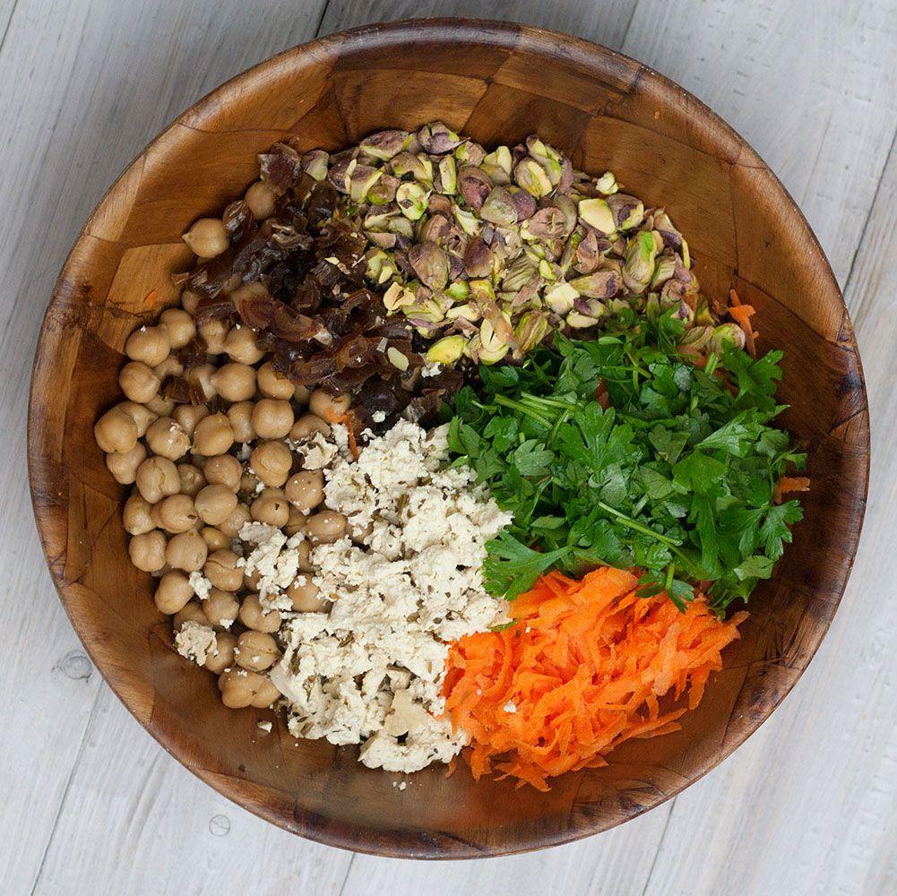 Arabisch Angehauchter Karotten Salat Rezept Kichererbsen Salat