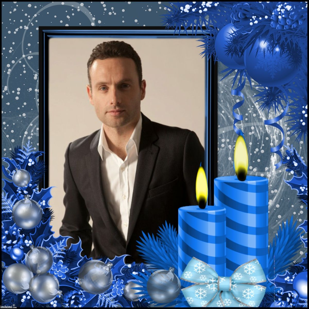 MERRY CHRISTMAS ☆ Andrew Lincoln Aka Rick Grimes From The