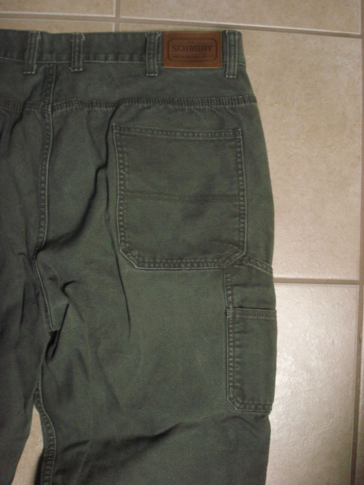Schmidt Canvas Utility Carpenter Work Jeans Pants Mens 42 X 32 ...