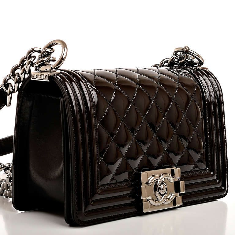 8072baee7e58 Chanel Black Patent Small Boy Bag image 3 | My Style in 2019 | Bags ...